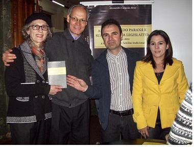 Zélia Bonamigo, Jorge Queiroz, Alessandro Cavassin Alves e Gislaine Cristo Alves, esposa do Alessandro.